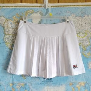 Fila White 100 Year Anniversary Pleated Skort S
